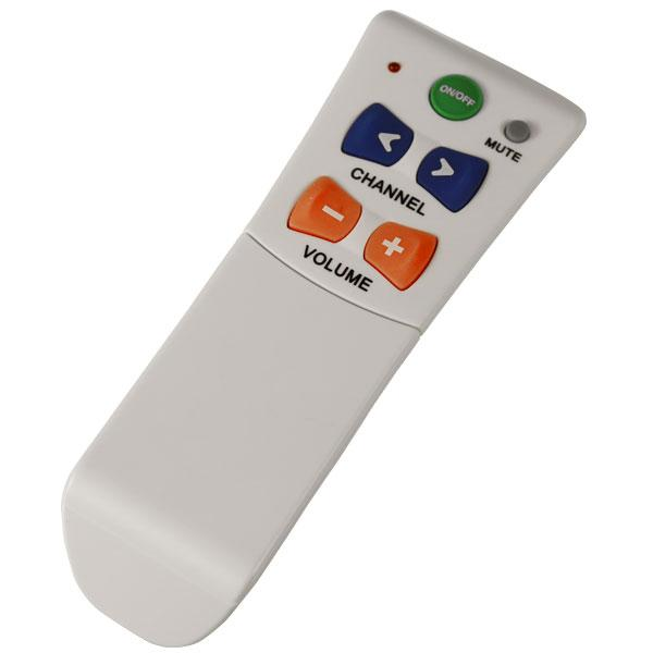 Large button TV remote for seniors with vision or dexterity issues.